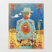 bob dylan Canvas Prints featuring Bob Dylan by Susan Burghart