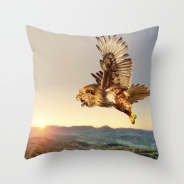 Hawlion Throw Pillow