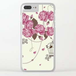 Art Flowers V12 Clear iPhone Case