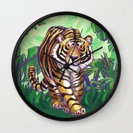 Animal Parade Tiger Wall Clock