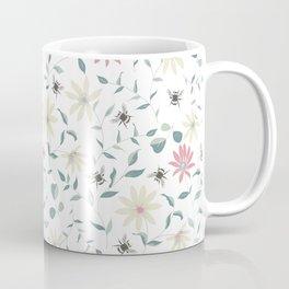 Floral Bee Print Coffee Mug
