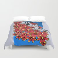 oklahoma Duvet Covers featuring OKLAHOMA by Erin L Turberville
