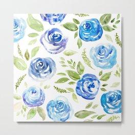 BLUE ROSES Metal Print
