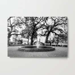 Savannah City Square Metal Print