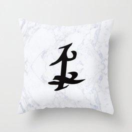 Shadowhunter Parabatai Rune - Marble Throw Pillow