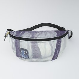 Tardis With Snow Jungle Fanny Pack