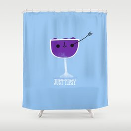 Just Tipsy Shower Curtain