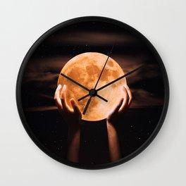 hey moon Wall Clock