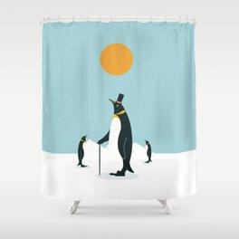 Noble Penguins Shower Curtain