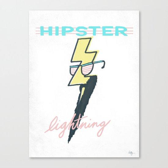 Hipster Lightning Canvas Print
