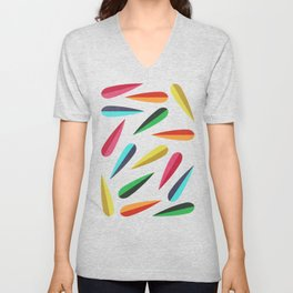 Feathers II Cascading Colors Unisex V-Neck