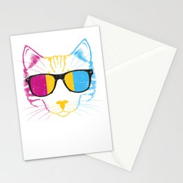 Pansexual Cat Stationery Cards