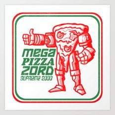 MEGA PIZZA ZORD SUPREME 2000 Art Print