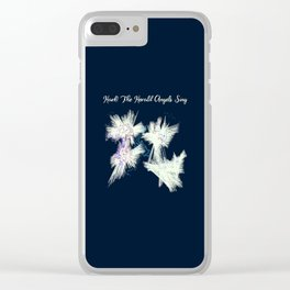 Hark! The Herald Angels Sing Christmas Abstract Clear iPhone Case