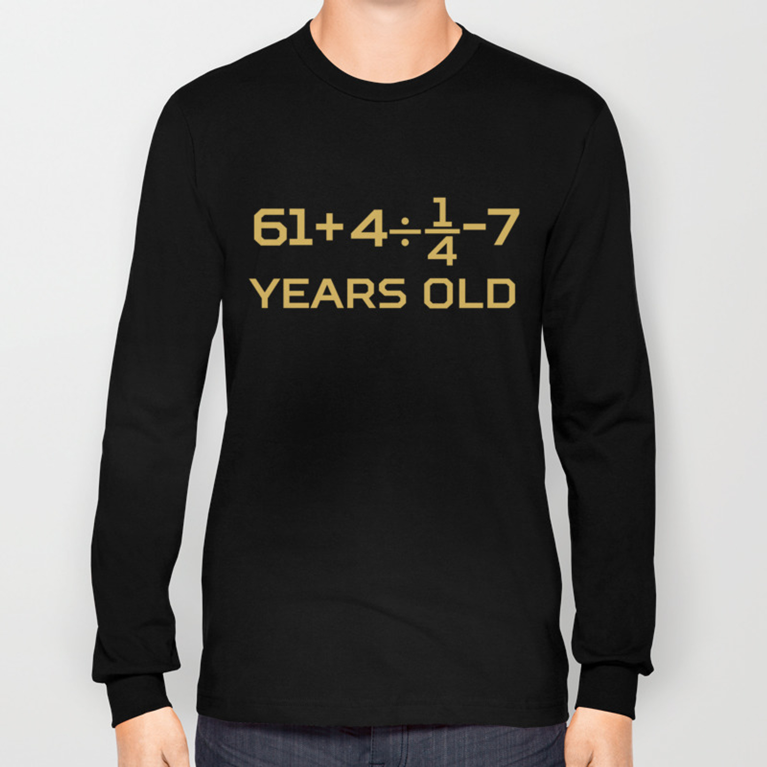 df4ffbb4 70 Years Old Algebra Equation Funny 70th Birthday Math Long Sleeve T-shirt  by awesomeart | Society6