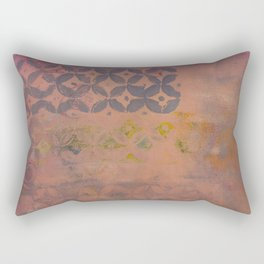 Lavender and Rose Rectangular Pillow