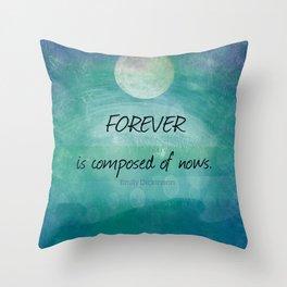 Inspirational ocean sea Emily Dickinson quote Throw Pillow