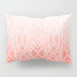 Art Deco Fading Peach Pillow Sham