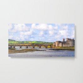 Thomond Bridge and King Johns Castle Metal Print