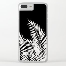 Palm Leaves White Clear iPhone Case