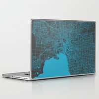 melbourne Laptop & iPad Skins featuring Melbourne map by Map Map Maps