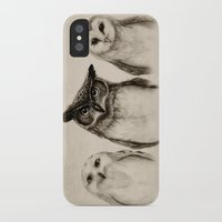 illustration iPhone & iPod Cases featuring The Owl's 3 by Isaiah K. Stephens