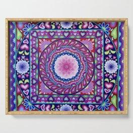 Colour Burst Mandala Serving Tray