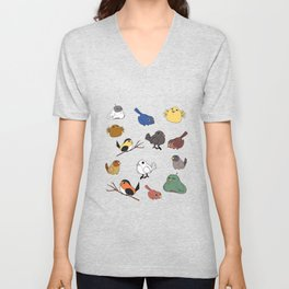 Tiny birds Unisex V-Neck