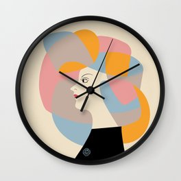 The Vintage Japanese Beauty Poster Wall Clock