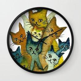 Kalamazoo Whimsical Cats Wall Clock