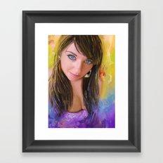 Blue Look Framed Art Print