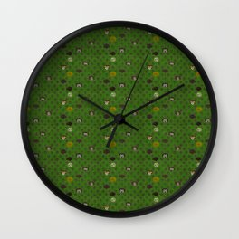 Rock Scales (Green) Wall Clock