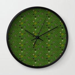 Rock Scales (Green) Wall Clock
