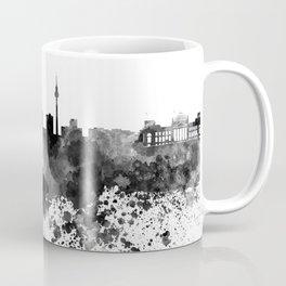 Berlin skyline in black watercolor Coffee Mug