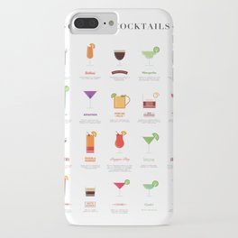 Classic Cocktails Print Art Poster | Drink Recipes | Bar Poster | Bar Art | Kitchen Art | Alcohol iPhone Case