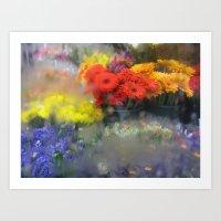 Flower For Sale, New York City Art Print