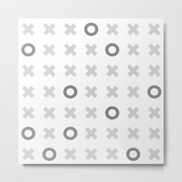 naughts and crosses Metal Print
