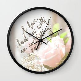 Roses & An Everlasting Love Wall Clock