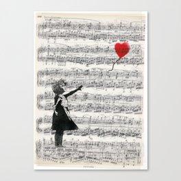 The Banksy Ballon Girl Canvas Print