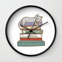 How To Chill Like A Cat Wall Clock