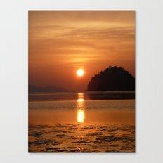 Sunset at Andaman Coast, Thailand Canvas Print