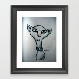 Daily Doodle - Kitty Framed Art Print