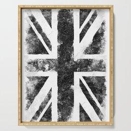Black Grunge UK Flag Serving Tray