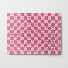 Tiles and Smiles Metal Print
