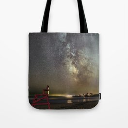 Lifeguard chair and the Milkyway Tote Bag