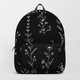 New Black Wildflowers Backpack