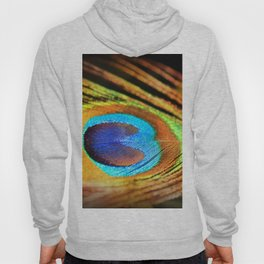 Peacock Feather, Photography Art Print Hoody
