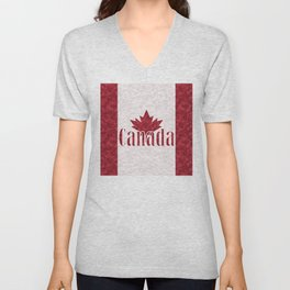 Canada, flag Unisex V-Neck