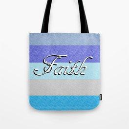 FAITH on Blue Tote Bag