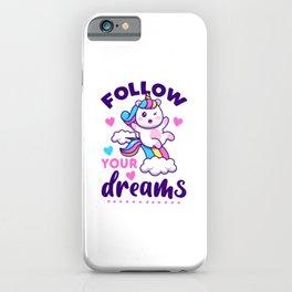 FOLLOW YOUR DREAMS (Light Version) iPhone Case